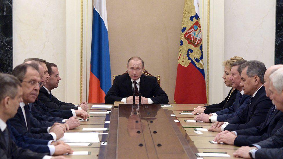 President Putin chairing Russian Security Council, 24 Feb 16