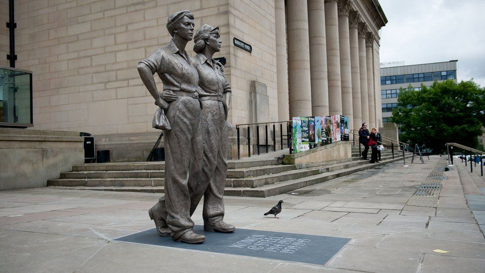 Women of Steel Statue in Sheffield