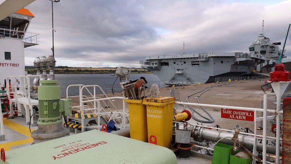 Refuelling HMS Queen Elizabeth