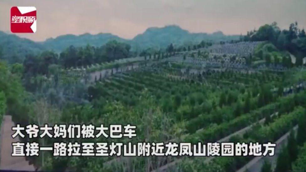 China: Elderly tourists taken on sales trip to cemetery thumbnail