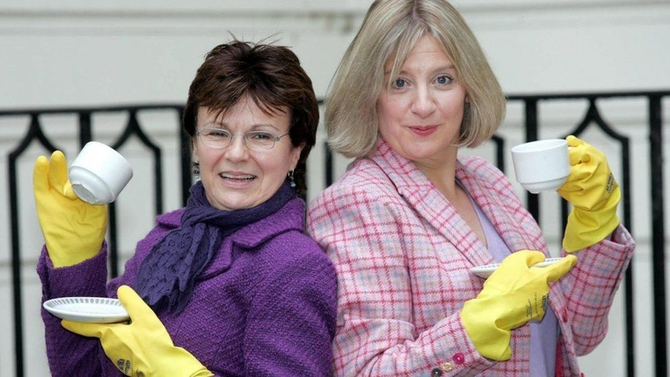 Dame Julie Walters with Victoria Wood