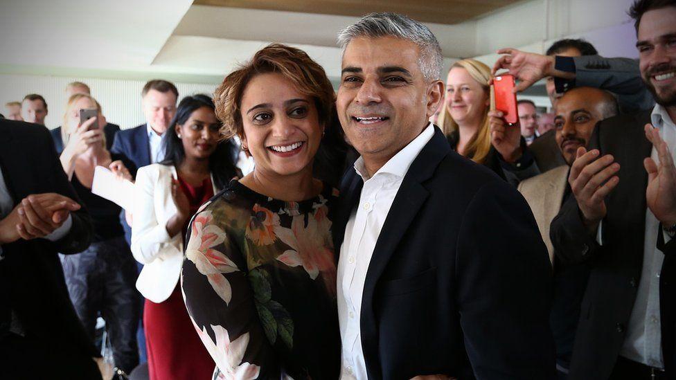 Sadiq and wife Saadiya at his nomination