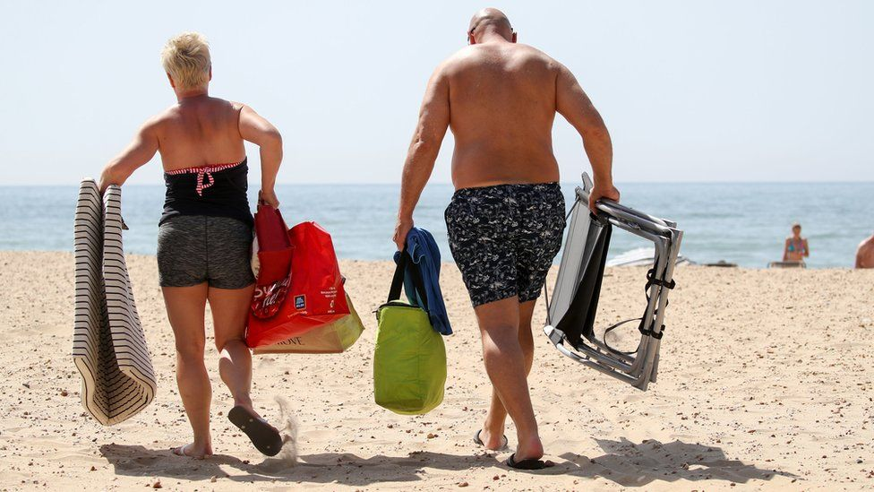 Couple of Bournemouth beach