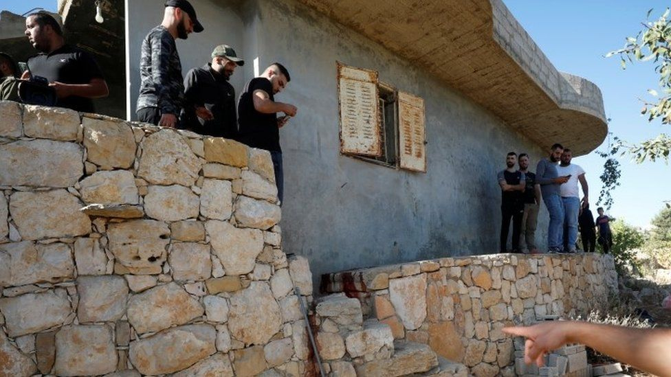 Scene where three Palestinians were killed by Israeli forces - 26 September