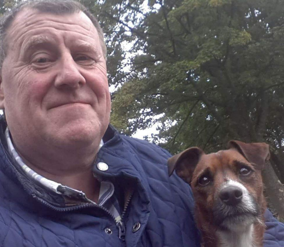 John Russell with his dog