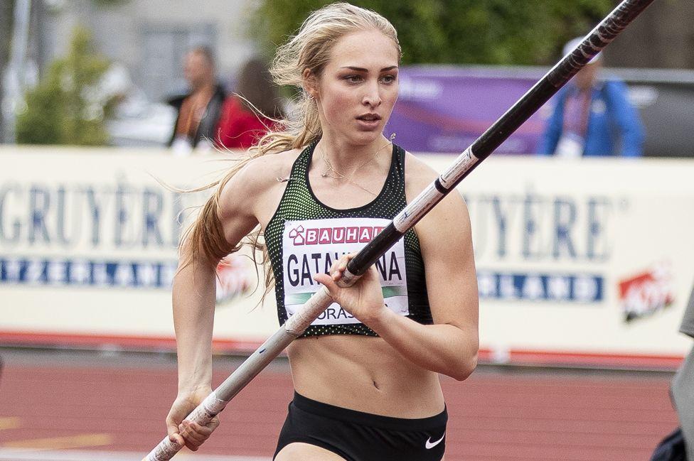 Russian pole vaulter Aksana Gataullina