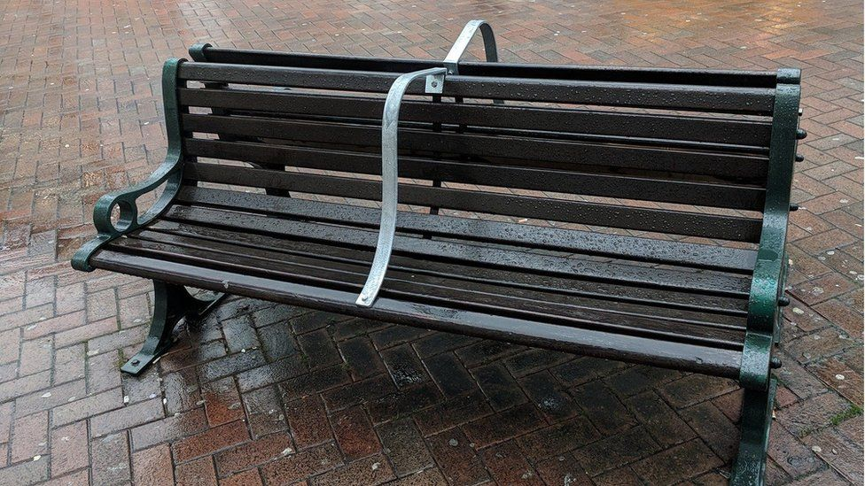 anti-homeless bench