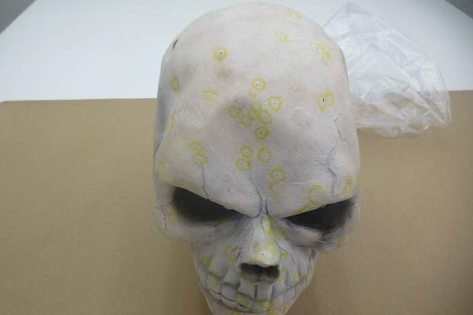 Blood found on Halloween mask
