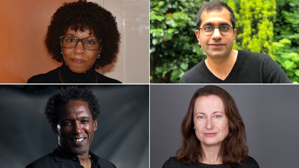 Margaret Busby (Luke Daniels), Sameer Rahim (Mike Turner), Emily Wilson (MHamilton Visuals) and Lemn Sissay (Getty)