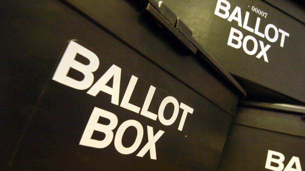 election ballot boxes