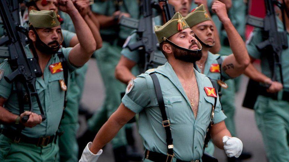Legionnaires on parade, 12 Oct 18