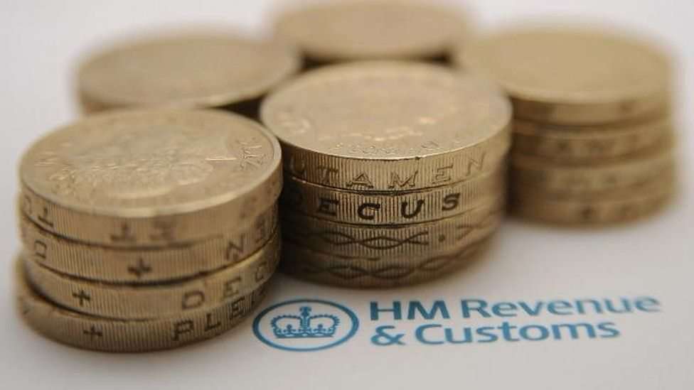 Coins and HMRC letterhead