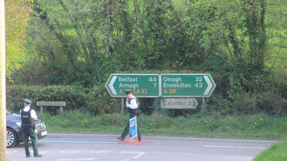 Killyleagh Road crash scene