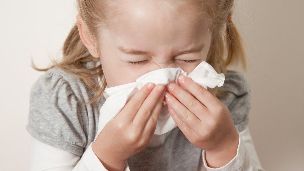 File picture - child sneezing