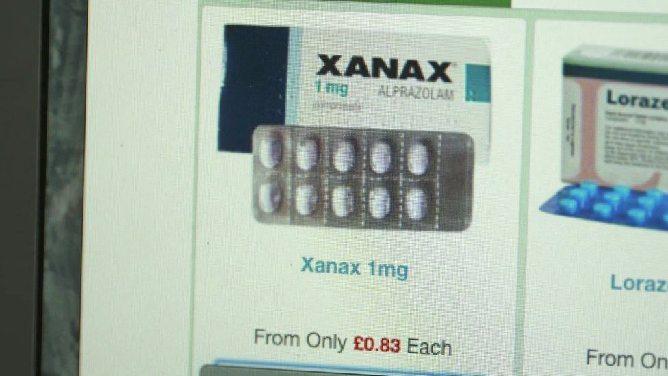 Xanax advertised online