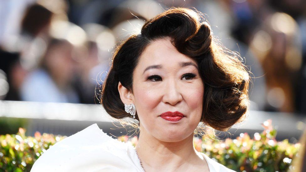 Host Sandra Oh attends the 76th Annual Golden Globe Awards at The Beverly Hilton Hotel on January 6, 2019