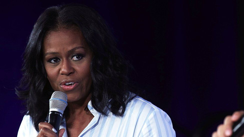 Former first lady Michelle Obama speaks at the Partnership for a Healthier America Summit in Washington, DC.