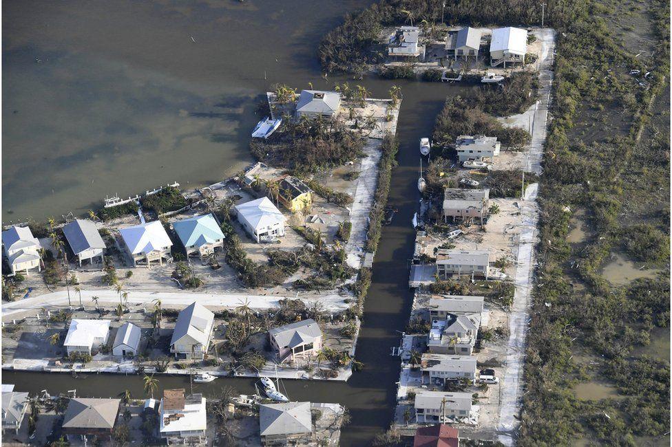 Storm damage on the Florida Keys, 11 September
