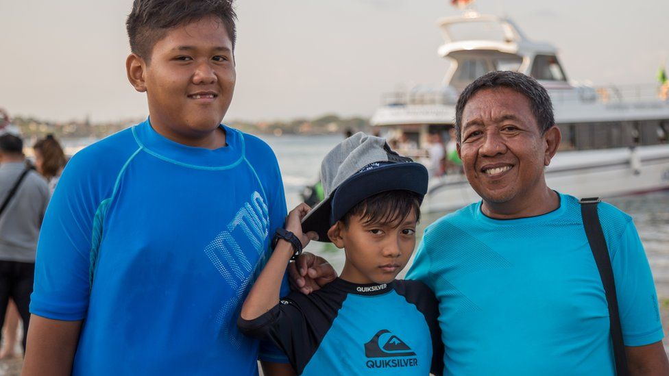 Mr Supriyatno with his children