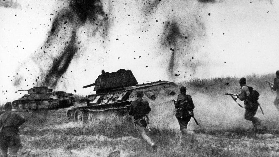 Soviet forces attack in the north Caucasus region, 1943