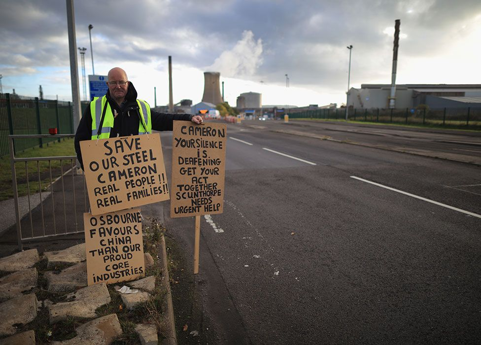 Worker at Tata Steel in Scunthorpe