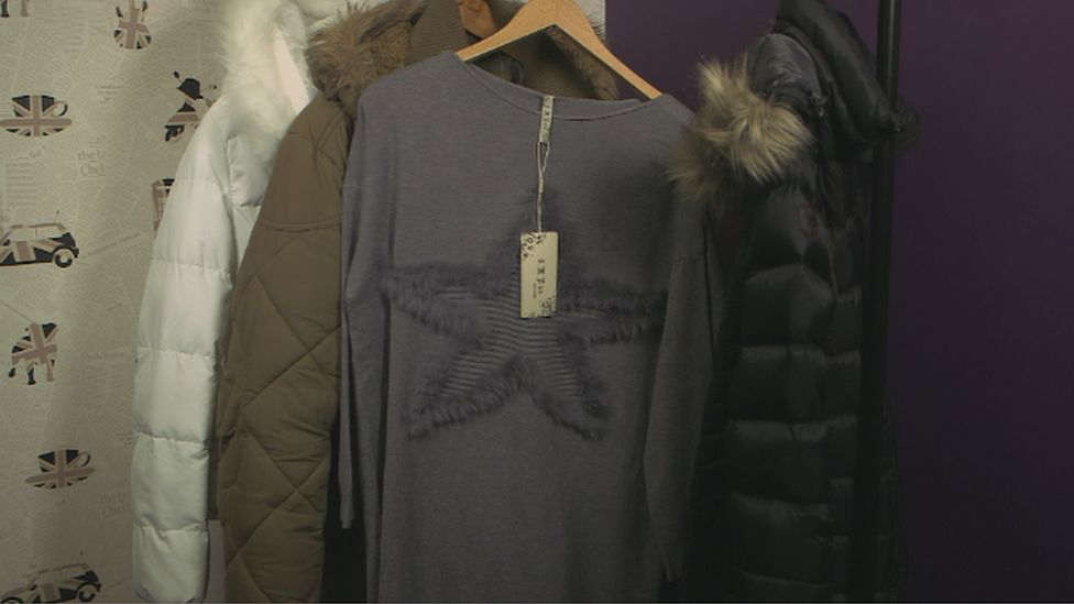 """The so-called """"fake fur"""" on this grey jumper's star was made from rabbit"""