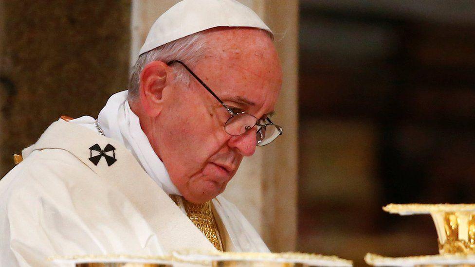 Pope Francis celebrates Mass in Saint John Basilica in Rome, January 21, 2017