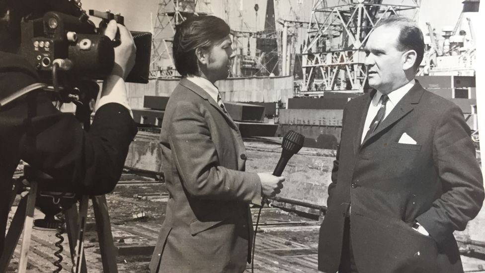 John Humphrys reporting on the Liverpool dock strikes
