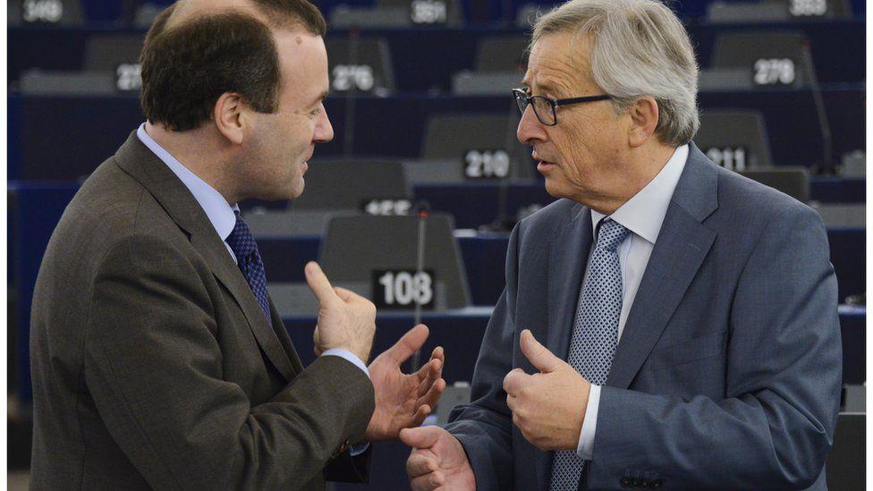 Manfred Weber and Jean-Claude Juncker