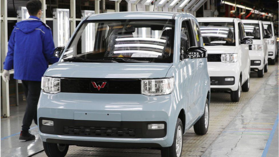The Hong Guang Mini EV is being built under a joint venture known as Wuling with US car giant General Motors (GM).