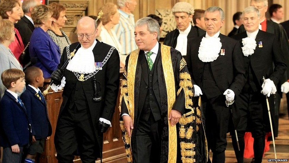 John Bercow during the State Opening of Parliament