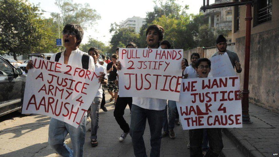 Aarushi Talwar protest