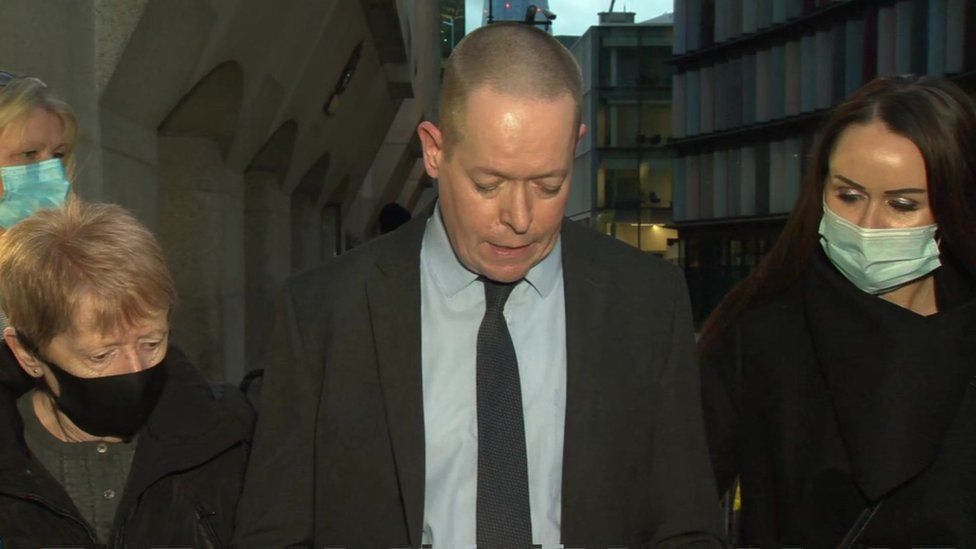 Andrew Wails outside court