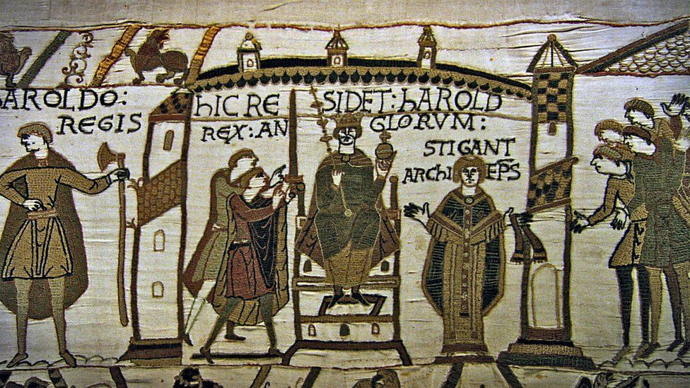 Harold is crowned king after the death of Edward the Confessor