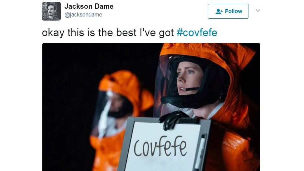 Some people made parodies related to films, such as this take on Arrival