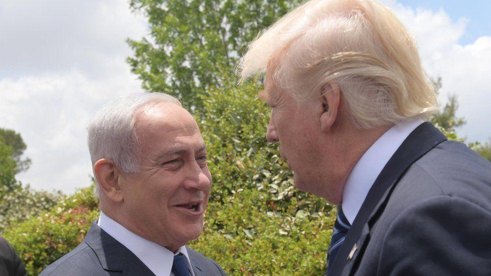 US President Donald Trump visits the Yad Vashem Holocaust museum in Jerusalem, Israel, accompanied by Prime Minister Benjamin Netanyahu