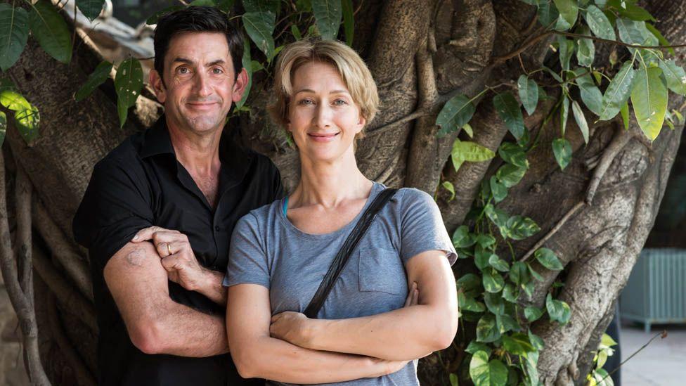 Justin Rowlatt and his wife Bee
