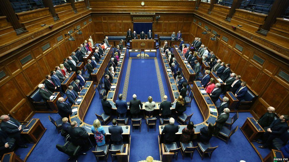 MLAs in the Northern Ireland Assembly chamber
