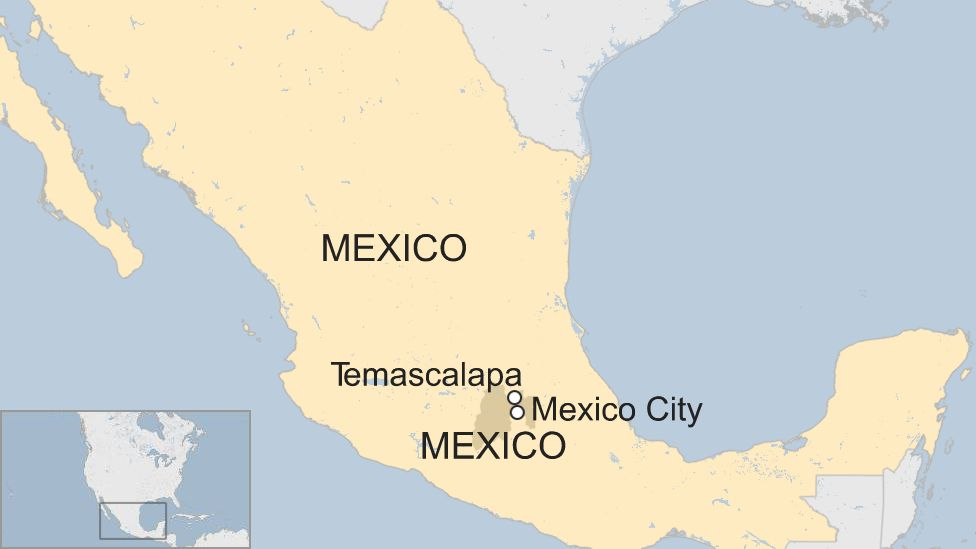 Map of Temascalapa in Mexico