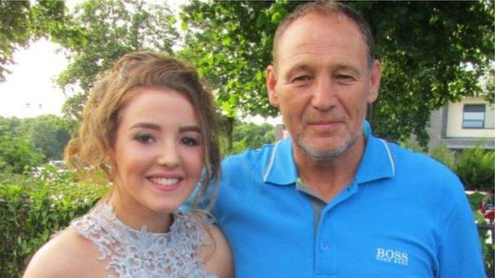 Mark Bradbury, pictured with his daughter Hannah Bradbury