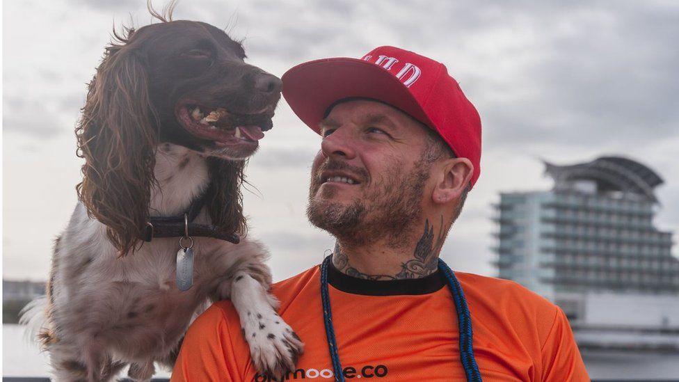 Matt Pritchard and his dog