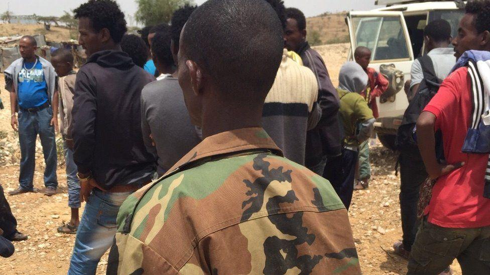 An Eritrean army deserter in Ethiopian refugee camp
