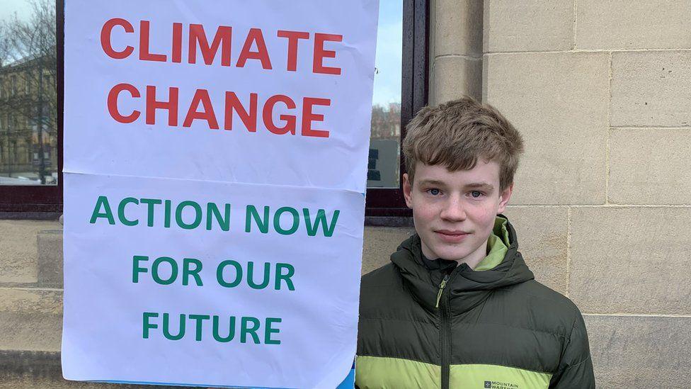 Danny at Bradford's protest