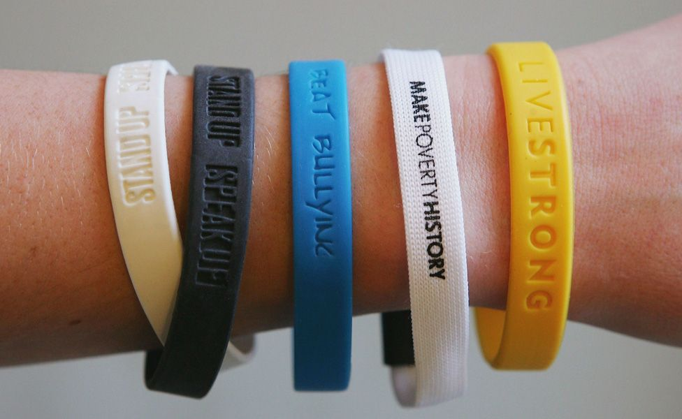 Various charity wristbands