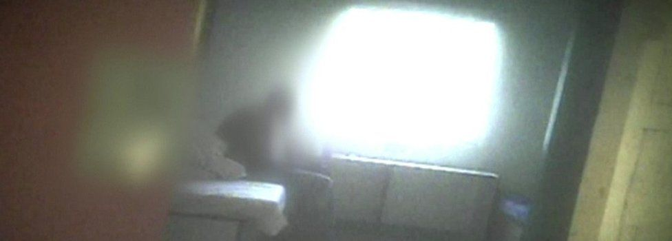 Footage from inside Brook House