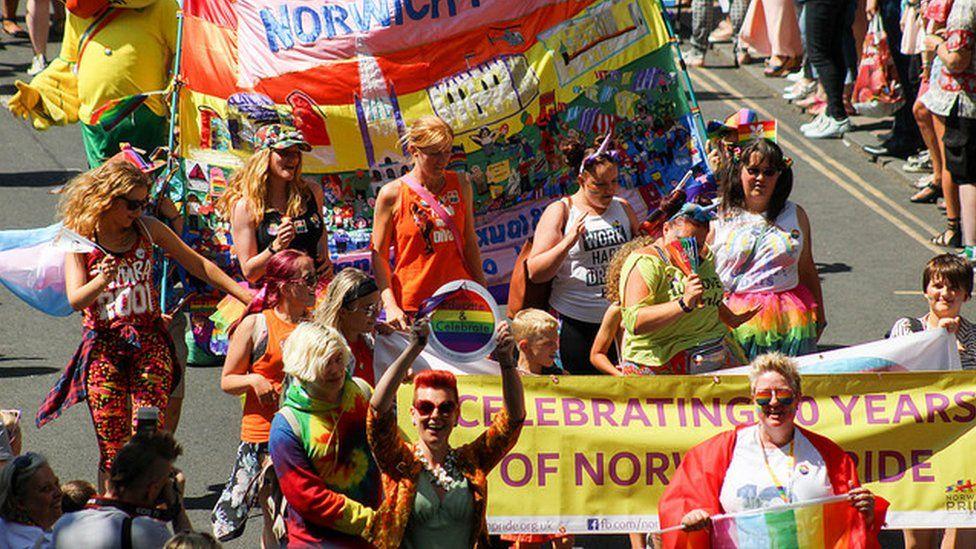 Pride parade, Norwich 2018