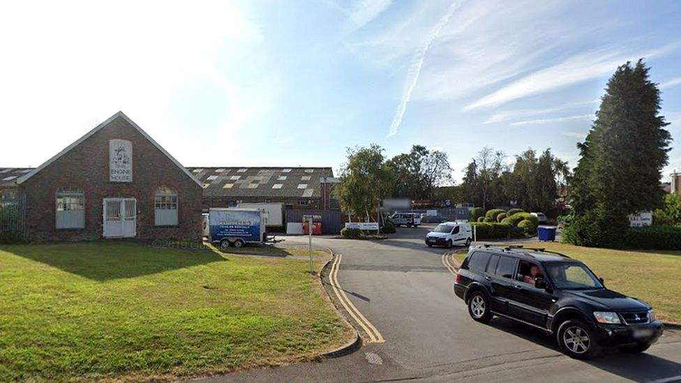 Entrance to the industrial estate where East Bristol Auctions Ltd is found