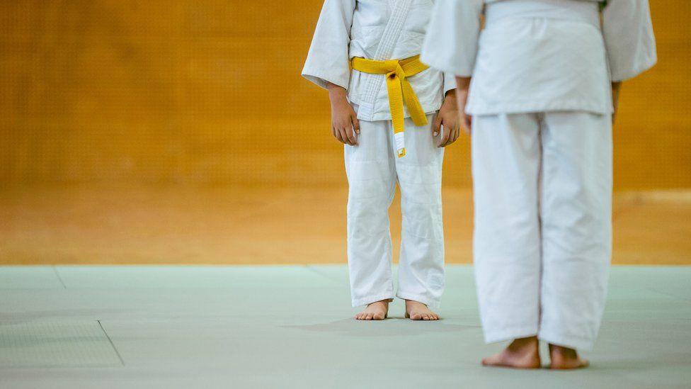 File photo of a judo class