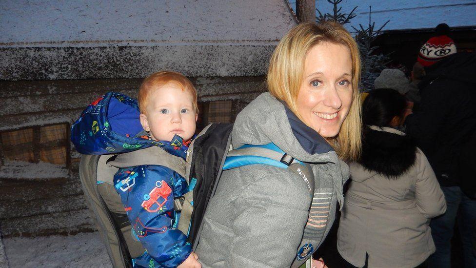 Gemma Fleuren and child