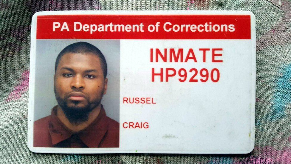 Craig's state prison identification card